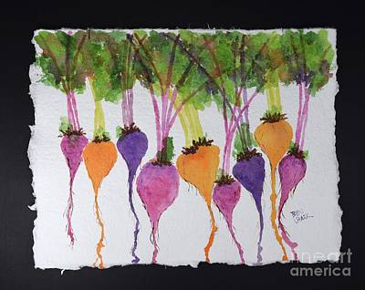 Painting - Organic Beets by Barrie Stark