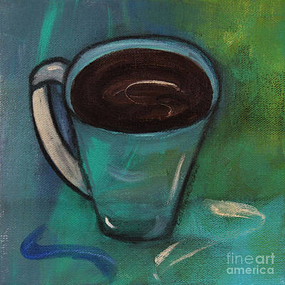 Painting - Organic Cup Of Coffee by Robin Maria Pedrero