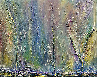 Painting - Organic Fantasy Forest by Dolores  Deal