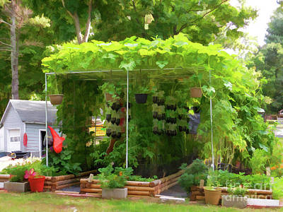 Painting - Organic Gardening 1 by Lanjee Chee