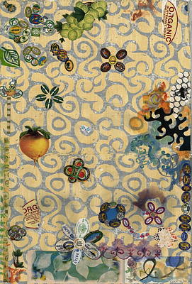 Grape Leaves Mixed Media - Organic by Gloria Von Sperling
