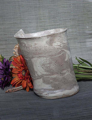 Photograph - Organic Marbled Vase by Suzanne Gaff