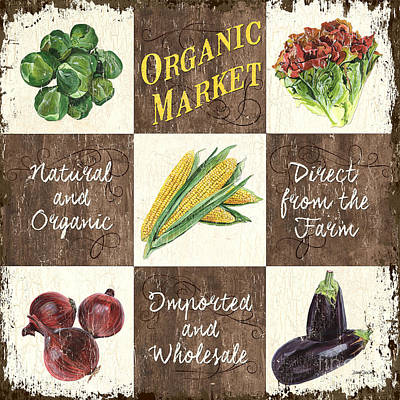 Retro Painting - Organic Market Patch by Debbie DeWitt