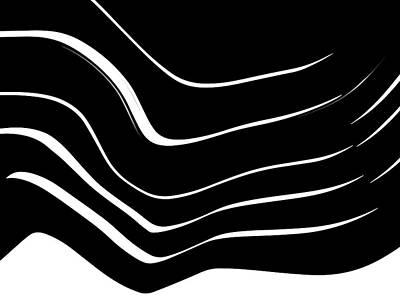 Digital Art - Organic No. 10 Black And White #minimalistic #design #artprints #shoppixels by Menega Sabidussi