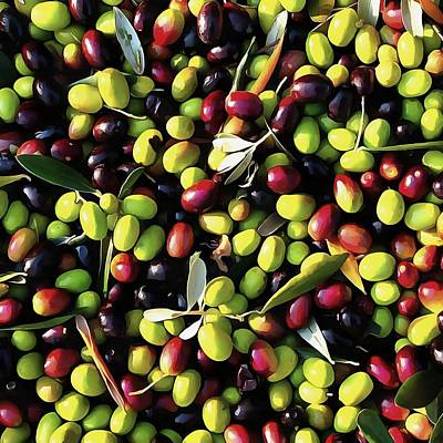 Painting - Organic Olives by Tracey Harrington-Simpson