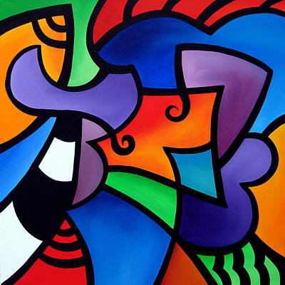 Organized - Abstract Pop Art By Fidostudio Print by Tom Fedro - Fidostudio