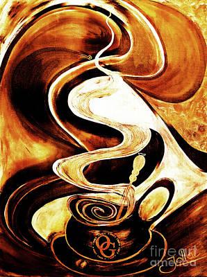 Bistro Mixed Media - Organo Coffee by Jolanta Anna Karolska