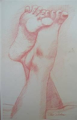 Orgasm Art Print by Alex Rahav