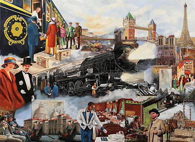 Trip Wall Art - Painting - Orient Express by Guido Borelli
