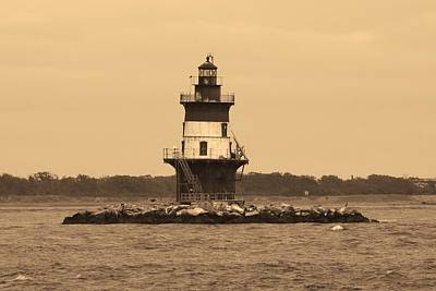 Photograph - Orient Point Lighthouse by Karen Silvestri