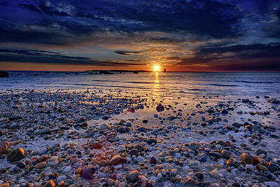 Oyster Photograph - Orient Point Sunrise by Rick Berk