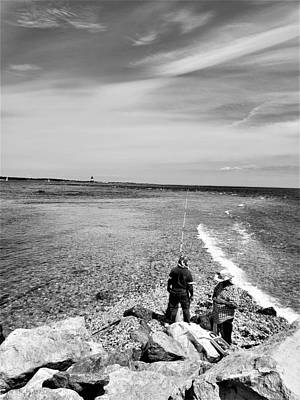 Photograph - Orient Point The End B W by Rob Hans