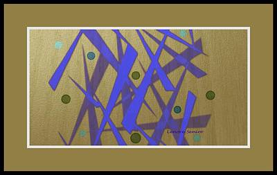 Painting - Oriental Abstract In Blue And Gold by Lenore Senior