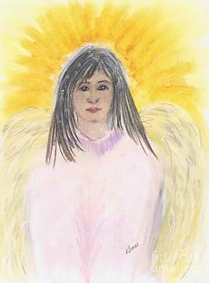 Uplifting Drawing - Oriental Angel by Karen Jane Jones