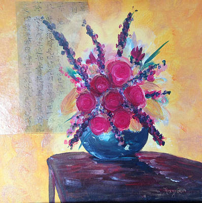 Artwork Painting - Oriental Arrangement by Roxy Rich