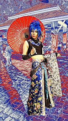 Photograph - Oriental Cosplayer by Ian Gledhill