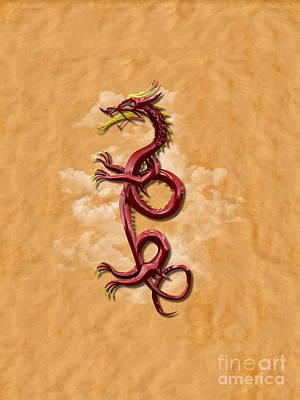 Signs Of The Zodiac Digital Art - Oriental Dragon by Chris MacDonald