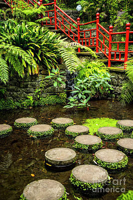 Photograph - Oriental Garden Stepping Stones by Brenda Kean