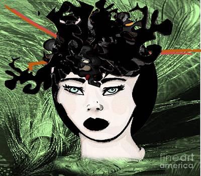 Painting - Oriental Green Eyes by Belinda Threeths