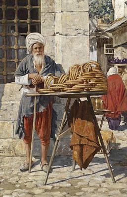 Painting - Oriental Hawkers by Daniel Israel