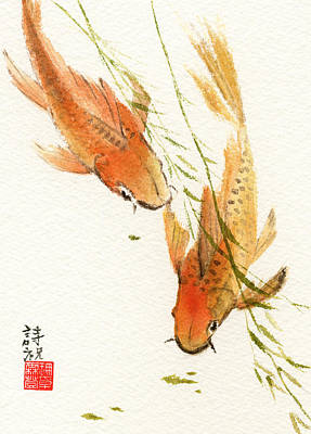 Painting - Oriental Koi by Sandy Linden