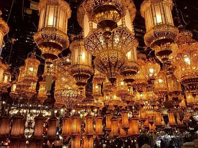 Agadir Photograph - Oriental Lamps by Agnes Czekman