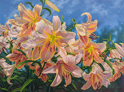 Oriental Lilies 2 Red Hot Original