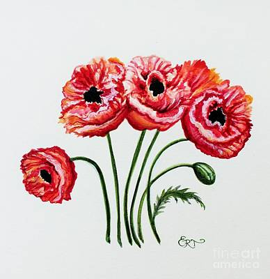 Painting - Oriental Poppies by Elizabeth Robinette Tyndall