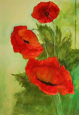 Painting - Oriental Poppies by Julie Lueders