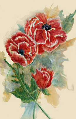 Red Poppies Drawing - Oriental Poppy by Jimmie Trotter
