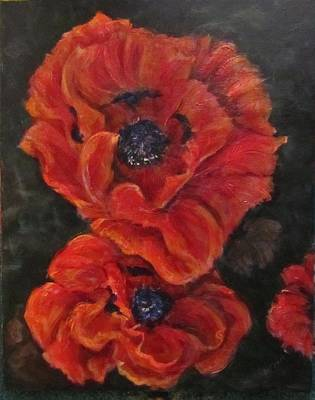 Oriental Poppys  Art Print by Barbara O'Toole
