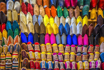 Photograph - Oriental Shoes On Display by Patricia Hofmeester