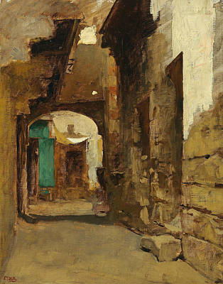 Painting - Oriental Street by Leopold Muller