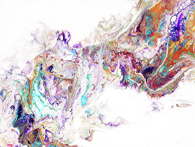 Photograph - Oriental Treasures 1.  Abstract Fluid Acrylic Painting by Jenny Rainbow