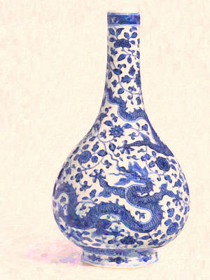 Painting - Oriental Vase by Celestial Images