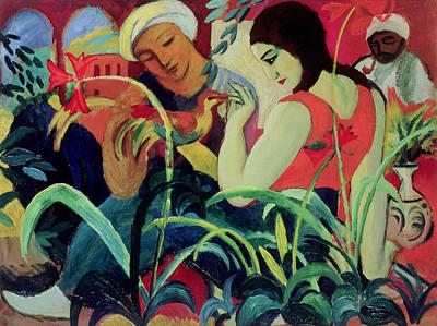 Interior Scene Painting - Oriental Women by August Macke