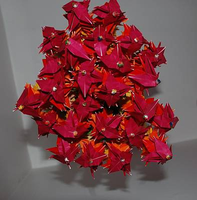 Origami Flowers Art Print by Rob Hans