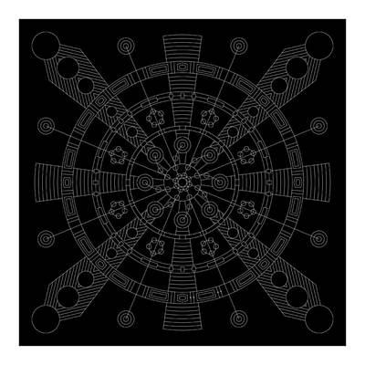 Mayan Digital Art - Origin Inverse by DB Artist