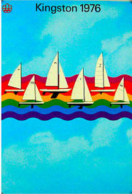 Canadian Sports Drawing - Original 1976 Montreal Olympics Yachting Poster by COJO Official Olympic Organizing Committee
