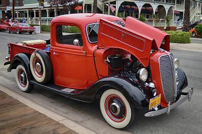 Photograph - Original 37 Ford Pickup by Bill Dutting