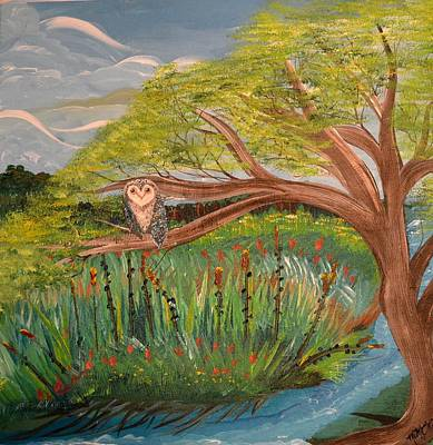 Painting - Original Acrylic Artwork By Mimi Stirn - Hoomasters Collection Hoomonet #413 by MiMi  Stirn