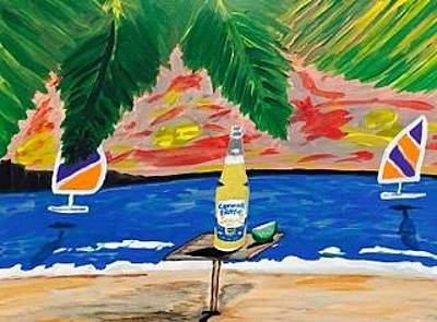 Painting - Original Acrylic Painting On Canvas. Corona Extra Beer Commercial by Jonathon Hansen