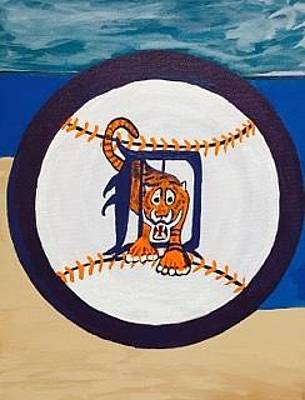 Painting - Original Acrylic Painting On Canvas. Detroit Tigers by Jonathon Hansen