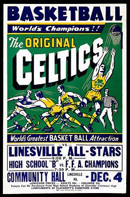Original Celtics Vintage Poster Art Print by Big 88 Artworks