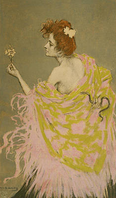 Original Design For The Poster Sifilis Print by Ramon Casas
