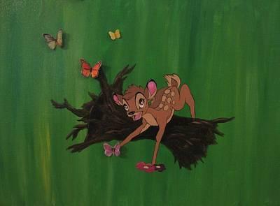 Original Disney Bambi Canvas Original