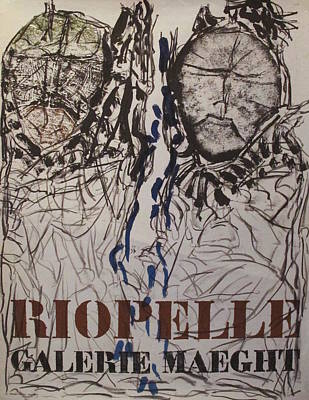 Maeght Painting - Original French Exhibition Poster For Riopelle At Galerie Maeght by Jean-Paul Riopelle
