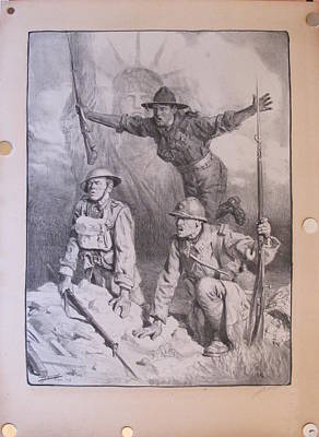 Original French Wwi Propaganda Poster Soldiers With Statue Of Liberty Signed By Jonas Lucien Hector Original