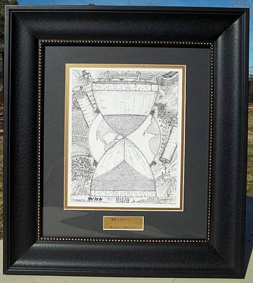 Glenn Mccarthy Drawing - Original-hourglass-framed by Glenn McCarthy Art and Photography