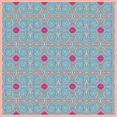 Mohammad Safavi Naini Painting - Original Light Blue Patterns by Mohammad Safavi naini